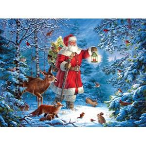 """SunsOut (59770) - Liz Goodrick-Dillon: """"Wilderness Santa"""" - 1000 pieces puzzle"""