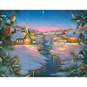 """SunsOut (69609) - Abraham Hunter: """"A Winter's Silent Night"""" - 1000 pieces puzzle"""