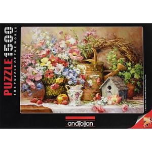 "Anatolian (4502) - Barbara Mock: ""Garden Medley"" - 1500 pieces puzzle"