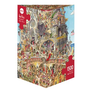 """Heye (29118) - Hugo Prades: """"Heaven and Hell"""" - 1500 pieces puzzle"""