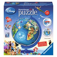 "Ravensburger (12333) - ""Disney Globe"" - 180 pieces puzzle"