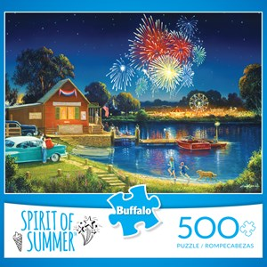 """Buffalo Games (3886) - George Kovach: """"Spirit of Summer (revised)"""" - 500 pieces puzzle"""