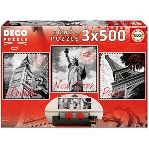 """Educa (17096) - """"Big Cities"""" - 500 pieces puzzle"""
