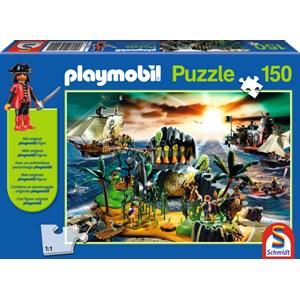 "Schmidt Spiele (56020) - ""Playmobil Pirate Island"" - 150 pieces puzzle"