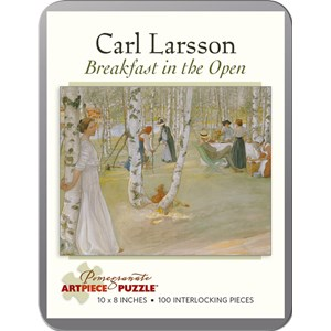 "Pomegranate (AA796) - Carl Larsson: ""Breakfast in the Open"" - 100 pieces puzzle"