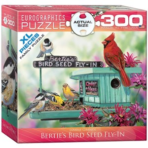 "Eurographics (8300-0604) - Janene Grende: ""Bertie's Bird Seed Fly-In"" - 300 pieces puzzle"