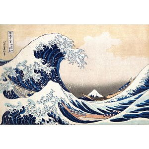 "Piatnik (569845) - Hokusai: ""The Great Wave"" - 1000 pieces puzzle"