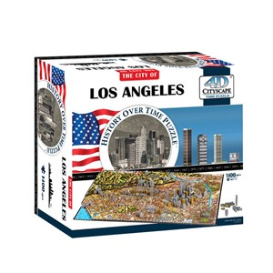 """4D Cityscape (40082) - """"Los Angeles"""" - 1400 pieces puzzle"""