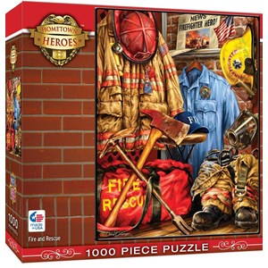 "MasterPieces (71511) - Dona Gelsinger: ""Fire and Rescue"" - 1000 pieces puzzle"
