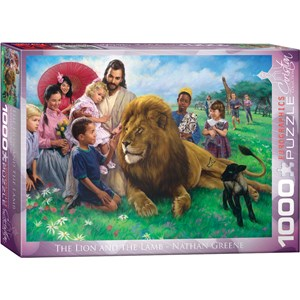 """Eurographics (6000-0345) - Nathan Greene: """"The Lion and the Lamb"""" - 1000 pieces puzzle"""