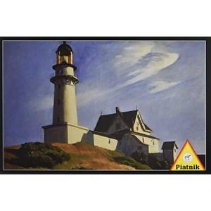 """Piatnik (538544) - Edward Hopper: """"Lighthouse at Two Lights"""" - 1000 pieces puzzle"""