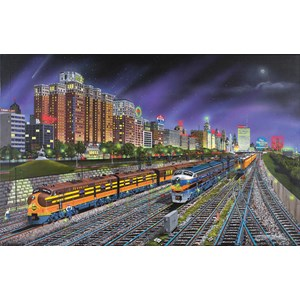 """SunsOut (21385) - Robert West: """"Chicago Nights"""" - 1000 pieces puzzle"""