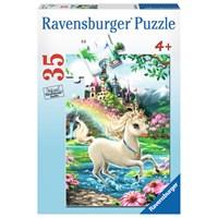 """Ravensburger (08765) - Dona Gelsinger: """"Unicorn Castle"""" - 35 pieces puzzle"""