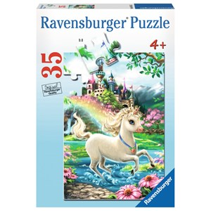 "Ravensburger (08765) - Dona Gelsinger: ""Unicorn Castle"" - 35 pieces puzzle"