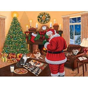 """SunsOut (45865) - Higgins Bond: """"Santa Solves the Puzzle"""" - 1000 pieces puzzle"""