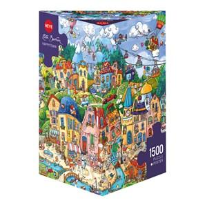 "Heye (29744) - Rita Berman: ""Happytown"" - 1500 pieces puzzle"