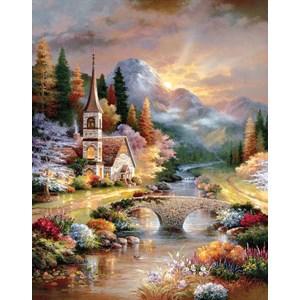 "SunsOut (18073) - James Lee: ""A Country Evening Service"" - 1000 pieces puzzle"