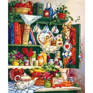 """SunsOut (31391) - Barbara Mock: """"Grandma's Cupboard"""" - 1000 pieces puzzle"""