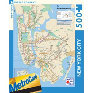 "New York Puzzle Co (SW101) - ""NYC Subway"" - 500 pieces puzzle"