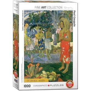 "Eurographics (6000-0835) - Paul Gauguin: ""La Orana Maria (Hail Mary)"" - 1000 pieces puzzle"