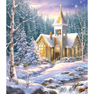 "SunsOut (57222) - Dona Gelsinger: ""Winter Chapel"" - 550 pieces puzzle"
