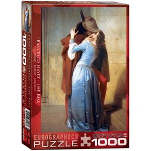 """Eurographics (6000-0148) - Francesco Hayez: """"The Kiss"""" - 1000 pieces puzzle"""