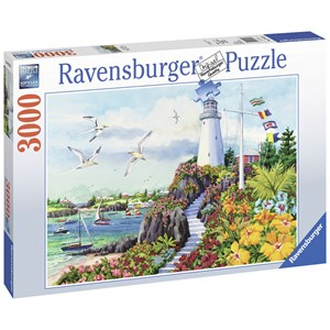 "Ravensburger (17073) - Nancy Wernersbach: ""Coastal Paradise"" - 3000 pieces puzzle"
