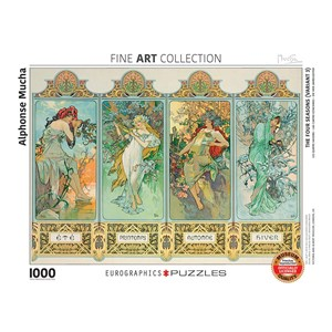 "Eurographics (6000-0824) - Alphonse Mucha: ""Four Seasons"" - 1000 pieces puzzle"