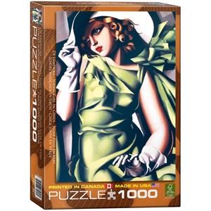 "Eurographics (6000-1058) - Tamara de Lempicka: ""Young Girl in Green"" - 1000 pieces puzzle"