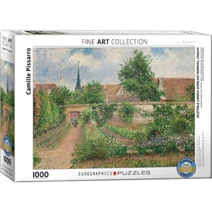 """Eurographics (6000-0825) - Pissaro Camille: """"Vegetable Garden Overcast Morning"""" - 1000 pieces puzzle"""