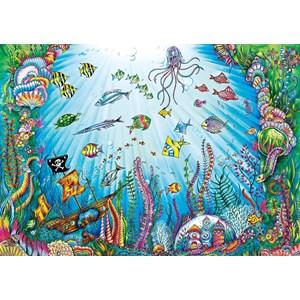 "Buffalo Games (3845) - Johanna Basford: ""Beneath the Waves"" - 500 pieces puzzle"
