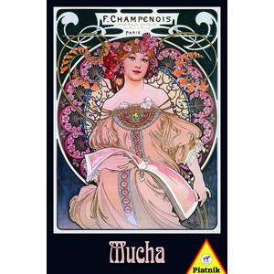 "Piatnik (536045) - Alphonse Mucha: ""Dreams"" - 1000 pieces puzzle"