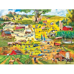 "SunsOut (58253) - Mary Thompson: ""The Heartland"" - 1000 pieces puzzle"