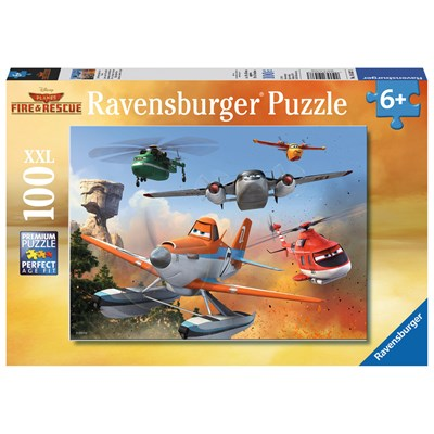 """Ravensburger (10537) - """"Fighting the Fire"""" - 100 pieces puzzle"""