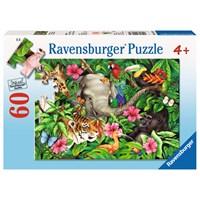 "Ravensburger (09533) - Jane Maday: ""Tropical Friends"" - 60 pieces puzzle"