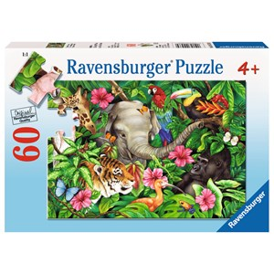 "Ravensburger (09533) - Jane Maday: ""Tropical Friends"" - 60 pieces puzzle"