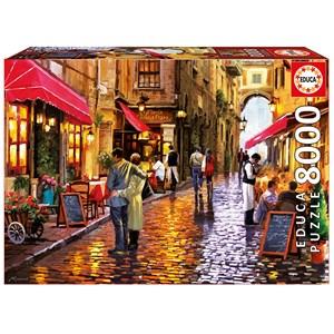 "Educa (16788) - ""Café Street"" - 8000 pieces puzzle"