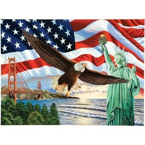 """SunsOut (45826) - Higgins Bond: """"From Sea to Shining Sea"""" - 1000 pieces puzzle"""
