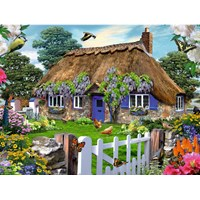 "Ravensburger (16297) - ""Cottage in England"" - 1500 pieces puzzle"