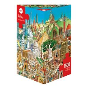"Heye (29634) - Hugo Prades: ""Global City"" - 1500 pieces puzzle"