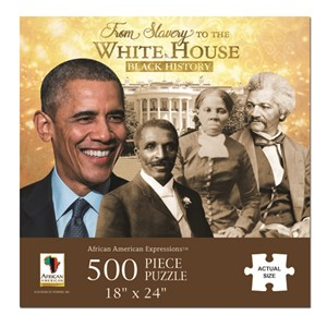 """African American Expressions (PUZ-11) - """"From Slavery to the White House"""" - 500 pieces puzzle"""