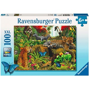 "Ravensburger (10781) - Mary Thompson: ""Wild Jungle"" - 100 pieces puzzle"