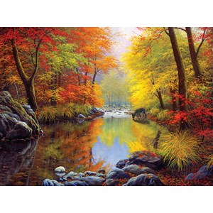 "SunsOut (48535) - Charles White: ""Autumn Sanctuary"" - 1000 pieces puzzle"