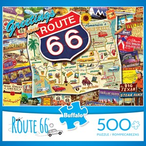 """Buffalo Games (3887) - Kate Ward Thacker: """"Route 66 (revised)"""" - 500 pieces puzzle"""