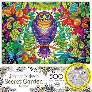 "Buffalo Games (3842) - Johanna Basford: ""Forest Owl"" - 500 pieces puzzle"