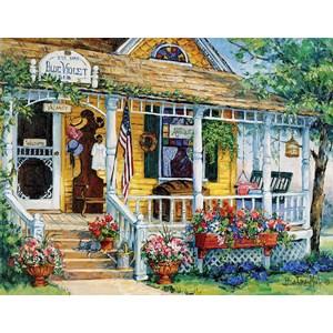"""SunsOut (31366) - Barbara Mock: """"Blue Violet Antiques"""" - 1000 pieces puzzle"""