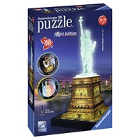 "Ravensburger (12596) - ""Statue of Liberty - Night Edition"" - 108 pieces puzzle"