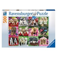 """Ravensburger (14659) - Keith Kimberlin: """"Puppy Pals"""" - 500 pieces puzzle"""