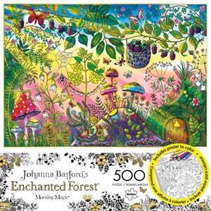 "Buffalo Games (3846) - Johanna Basford: ""Morning Magic (Enchanted Forest)"" - 500 pieces puzzle"