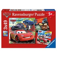 "Ravensburger (09281) - ""Cars 2: Worldwide Racing Fun"" - 49 pieces puzzle"